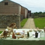 A selection of Roman style toys and games at Binchester Roman Fort
